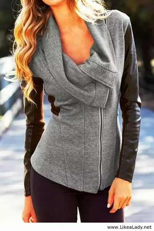 Love this gray sweater