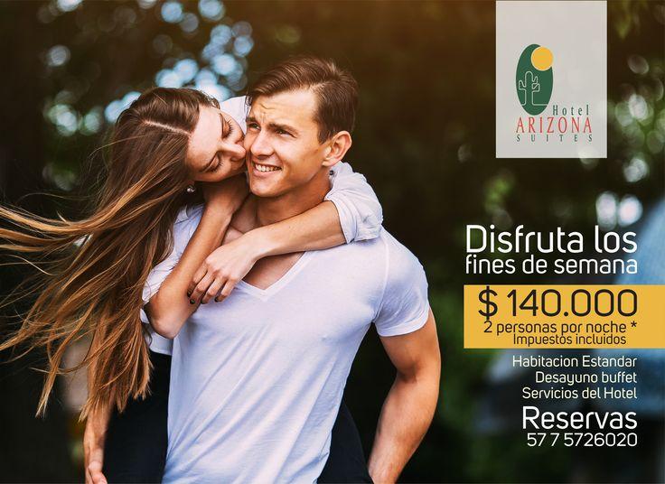 Disfruta este #FindeSemana con #Festivo del mejor plan en el Hotel Arizona Suites Cúcuta 2 personas por noche $ 140.000 Reserva al 57 7 5726020 Ext 500 #Cucuta #Colombia  https://goo.gl/dMG4qq
