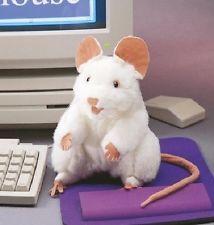Folkmanis Handpuppe weiße Maus 2219