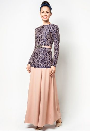 Embroidered Lace 2 Piece Jubah by Melinda Looi #zalora
