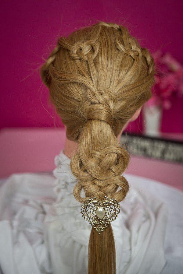 Celtic Knot or Pretzel Knot Ponytail