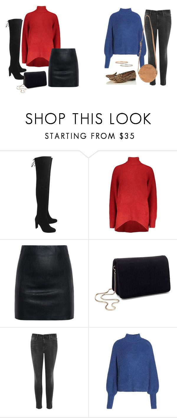 """""""redorblue"""" by phuongn-1 on Polyvore featuring Stuart Weitzman, McQ by Alexander McQueen, Miss Selfridge en Frame"""