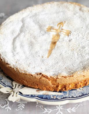 This flourless Almond Cake from Epicurious.com is one of the two desserts I'm making for Easter dinner tomorrow.  The other is Chocolate Espresso Pots de Creme for the incurable chocoholics (see pic previously pinned on this board).