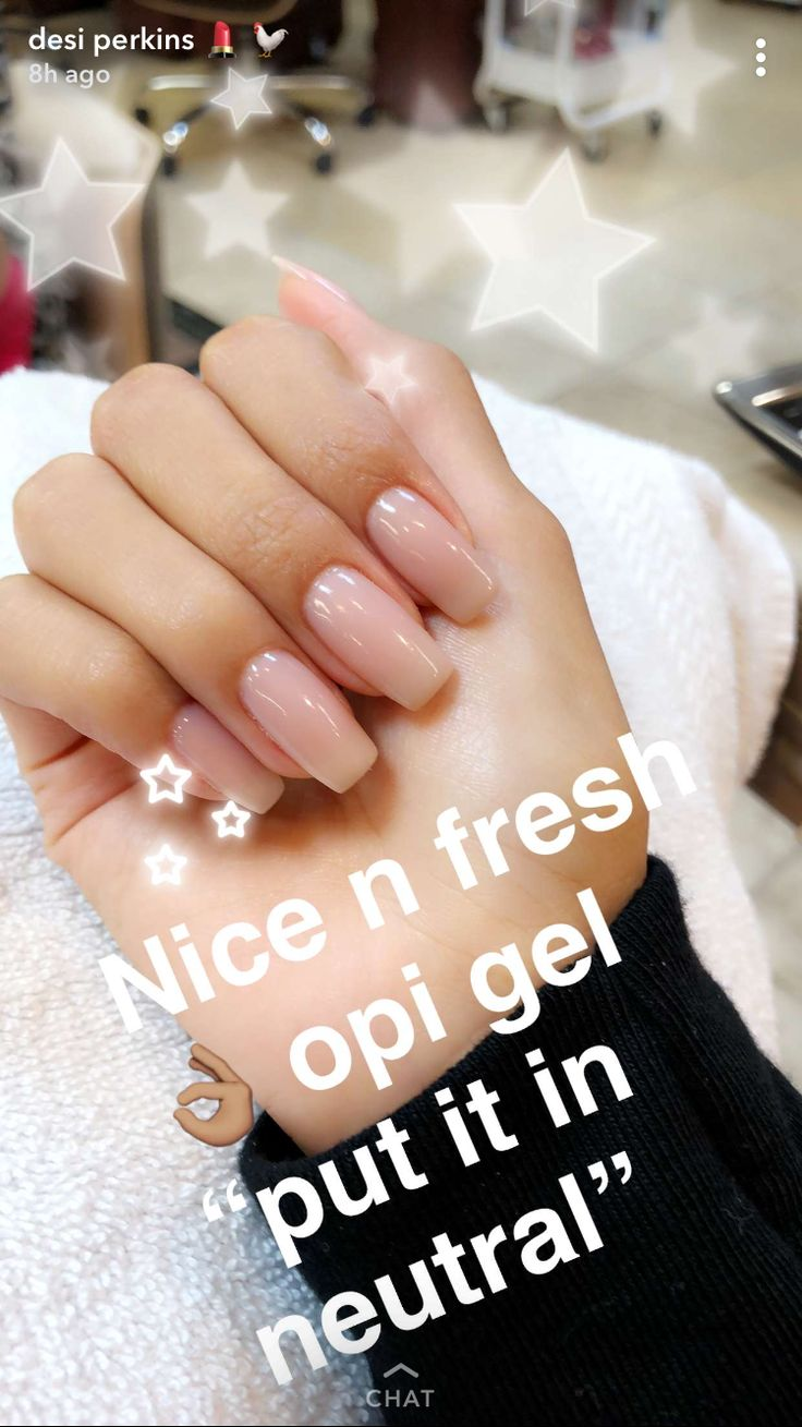 Desi Perkins Nails Opi Gel Put It In Neutral Nails In 2019 Pinterest Nails Acrylic