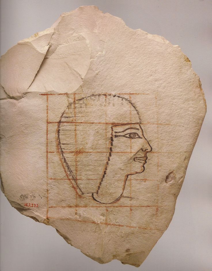 Ostracon figuré : l intendant Senenmout.  L'art du contour - Le dessin dans l'Égypte ancienne.