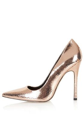GALLOP Metallic Court Shoes from Topshop