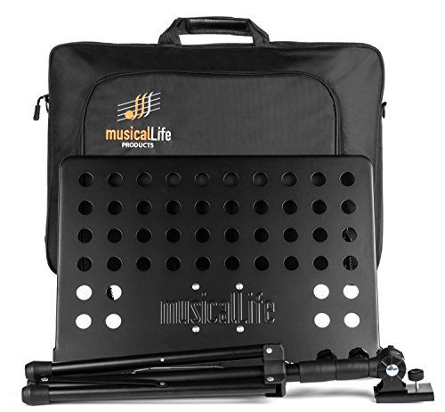 Musical Life Music Stand for Sheet Music durable folding lightweight with Deluxe Carry Case   https://hobbiesandcrafts.boutiquecloset.com/product/musical-life-music-stand-for-sheet-music-durable-folding-lightweight-with-deluxe-carry-case/