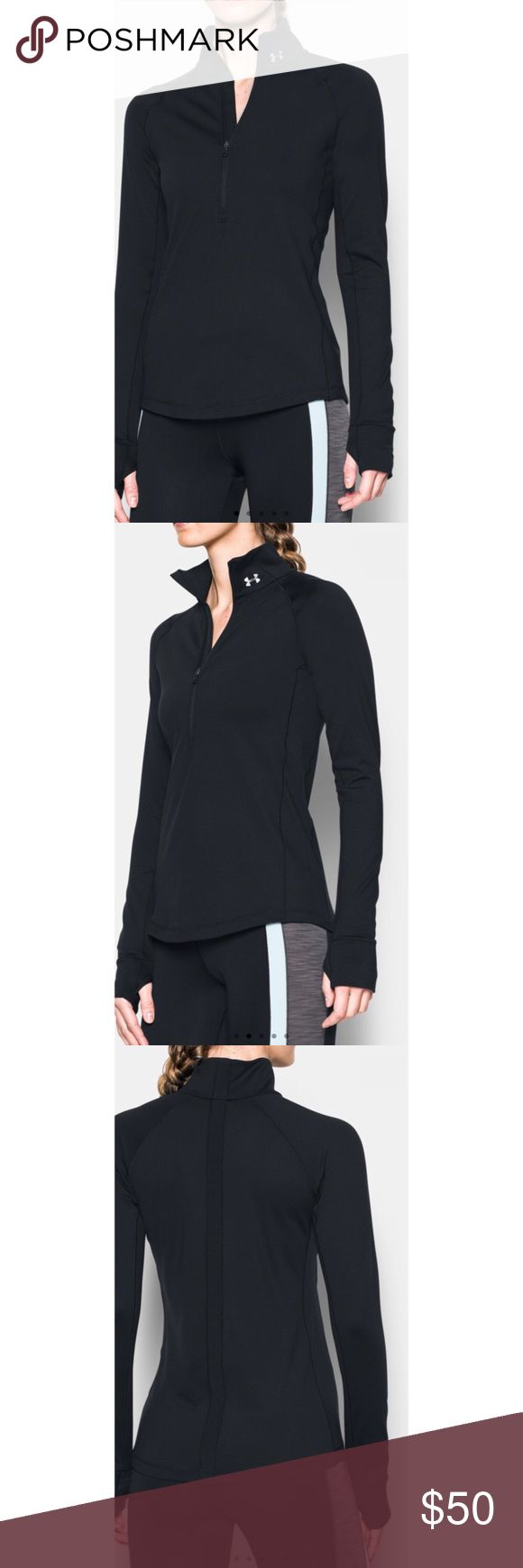 NWT Under Armour Fleece New with tags black coldgear fleece. Brand new. Women's small, petite. Very warm and beautiful. Open to negotiation Under Armour Tops Sweatshirts & Hoodies