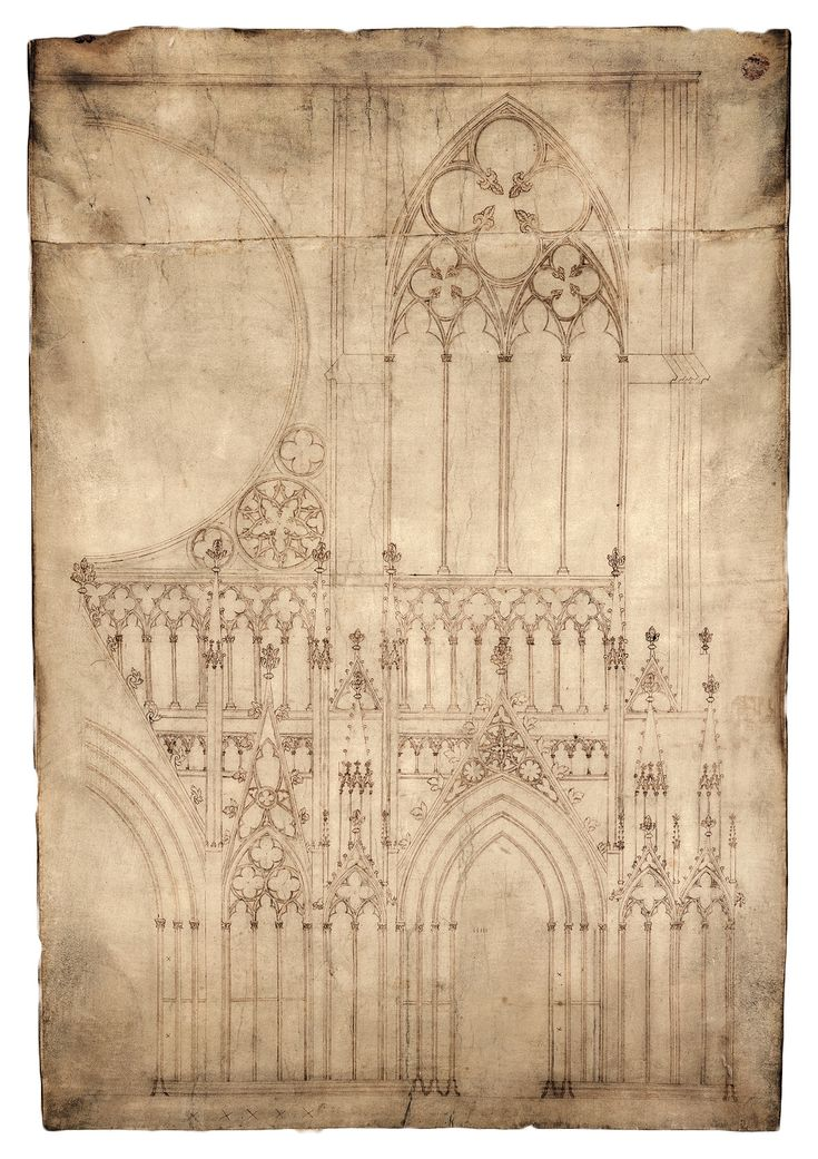 Strasbourg Cathedral Drawing