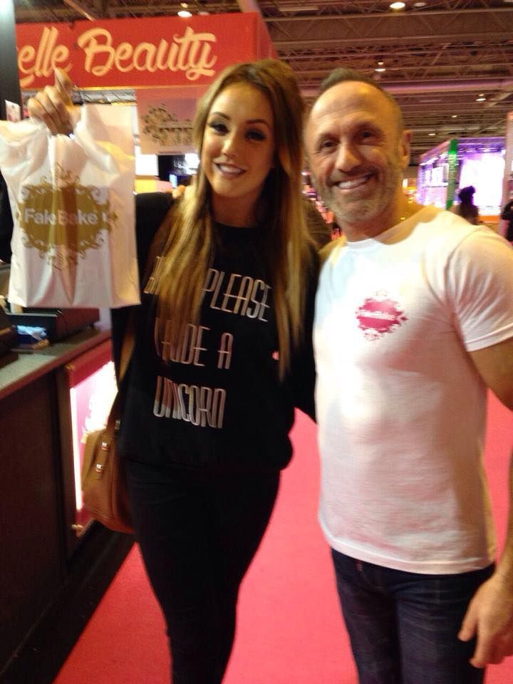 Our Jim and the lovely Charlotte from Geordie Shore - she is a huge fan of the brand and always great company!