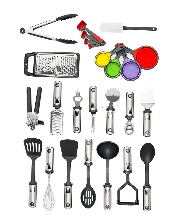 25-Piece Cooking Utensils Set, Kitchen Utensil Tools & Gadgets, Stainless Steel & Nylon, All-Purpose Cooking Utensils, Dishwasher Safe