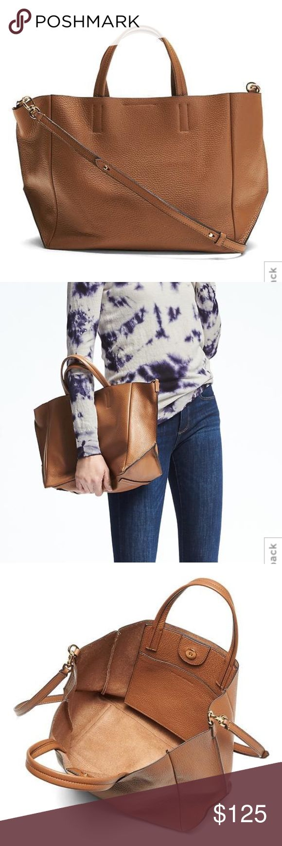 NWT Banana Republic Leather Slouch Tote New with tags. Banana Republic Portfolio Italian Leather Slouch Tote. Never used. Currently being sold in store @ full price Banana Republic Bags Totes