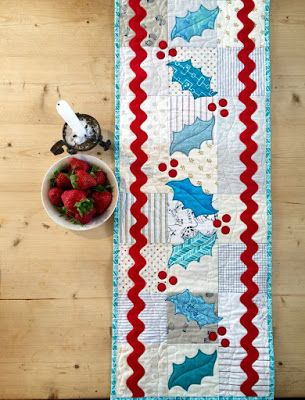 = free pattern = Christmas Table Runner tutorial by Charlotte Scott at Quilting Focus, featured at Quilt Inspiration