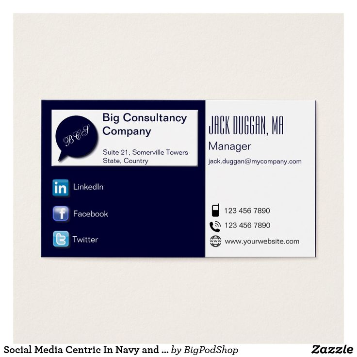 The 88 best Business Cards: Social Media images on Pinterest ...