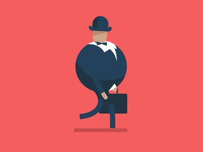Business Guy Walk Cycle  by Fraser Davidson for Cub Studio   Motion Graphics  
