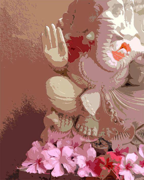 Bali spirituelle Fotografie, Ganesha Kunst, Meditation-Altar, inspirierende Kunst, religiöses Symbol, Indien Hindu-Gott, Pink Kunst, Yoga, Om