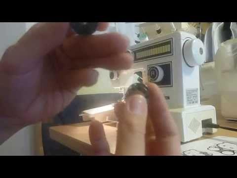 Dani- Mami zeigt: Fadenwechsel von Unter- und Oberfaden an einer Victoria- Nähmaschine - YouTube