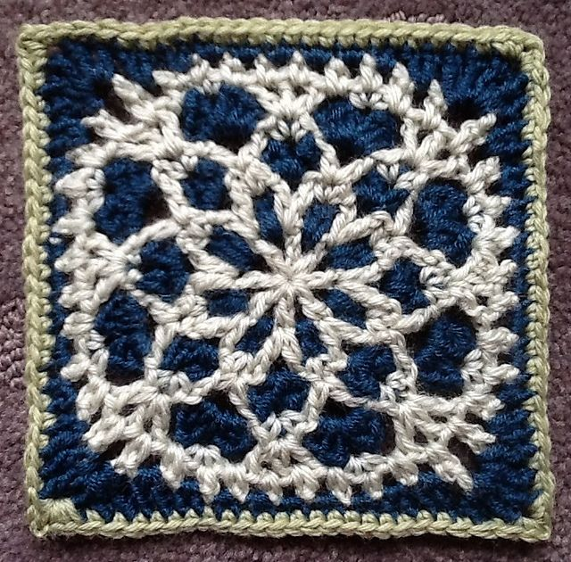 Free Crochet Pattern For Snowflake Granny Square : 1000+ images about Crochet - Afghans, Squares & Pillows on ...