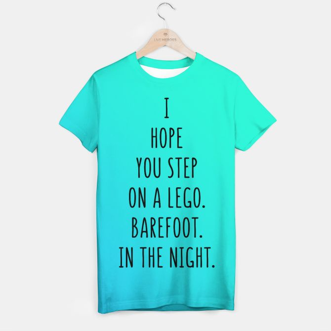 Lego mint blue Tshirt, Live Heroes