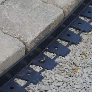 Secure Concrete Or Brick Pavers In Patio, Walkway Or Driveway By Using  Dimex Black ProFlex Paver Edging Project Kit.