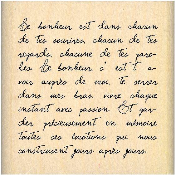 Tampon bois Grand carré texte:
