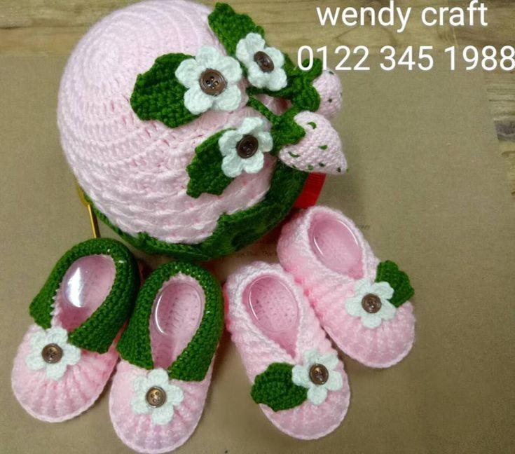 how to crochet baby booties strawberry p1. Móc mẫu giày dâu tây p1