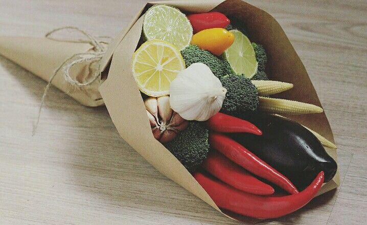 Съедобный букет Vegetable bouquet Vegbunch Made by hands