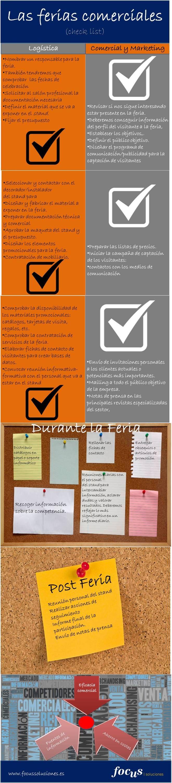 Infografía Ferias Comerciales  http://www.focus-marketing-online.es/infografia-como-preparar-una-feria