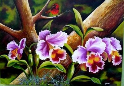 Pinturas Al Oleo De Flores pintar                                                                                                                                                      Más