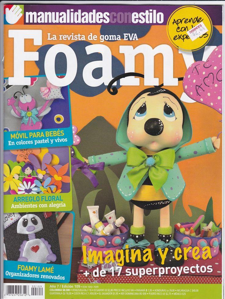 Revistas de manualidades Gratis: como hacer una fofucha abeja en foamy