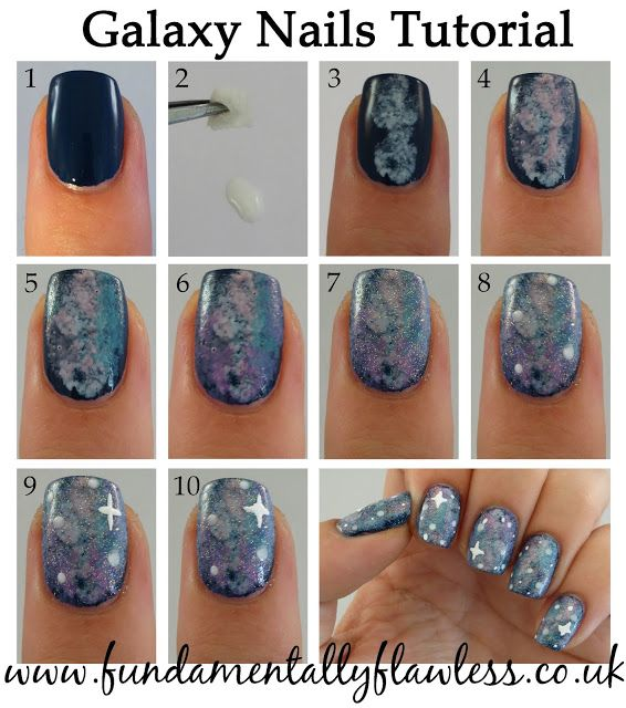 Galaxy Nails Tutorial: 498 Best Images About * Tutorials