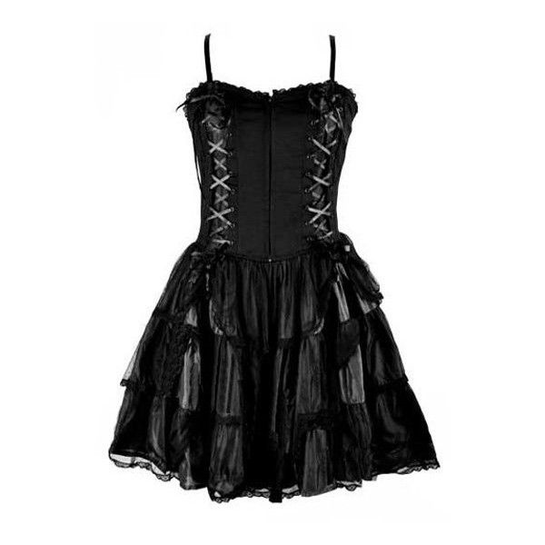 Black Silk Net Gothic Roses Corset Dress ❤ liked on Polyvore featuring dresses, corsette dress, gothic corset dress, goth corset dress, netted dress and rose dress