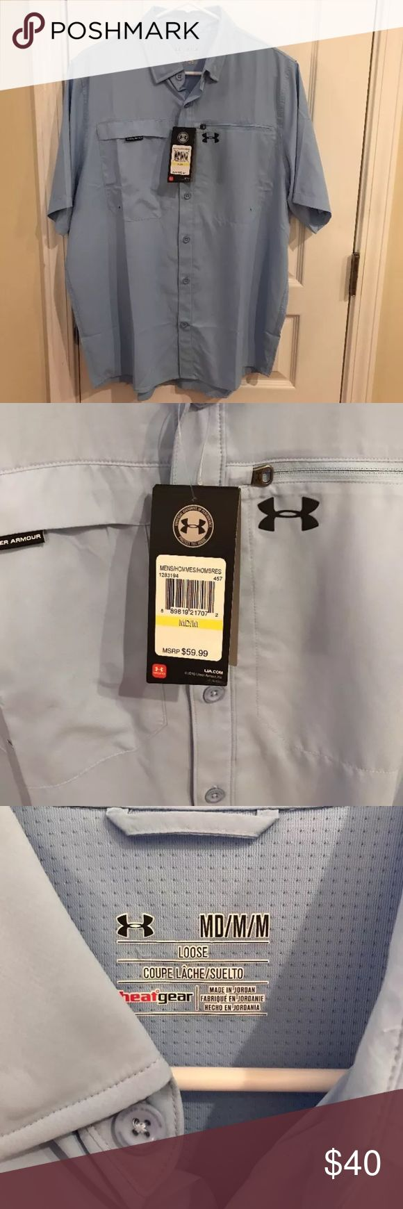 Under Armour men's fishing shirt NWT Brand new men's Under Armour fishing shirt Under Armour Shirts Casual Button Down Shirts