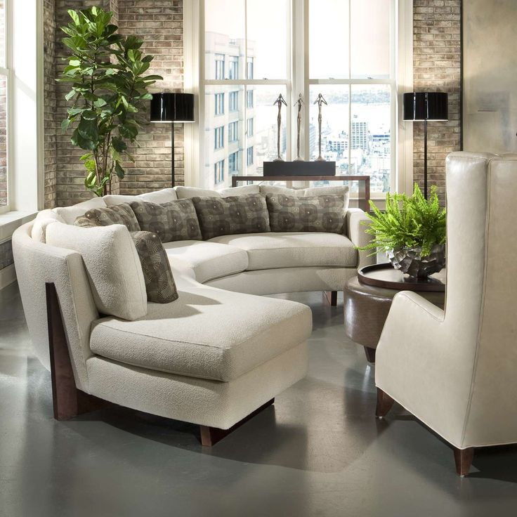 Inspirational Curved sofas for Small Spaces