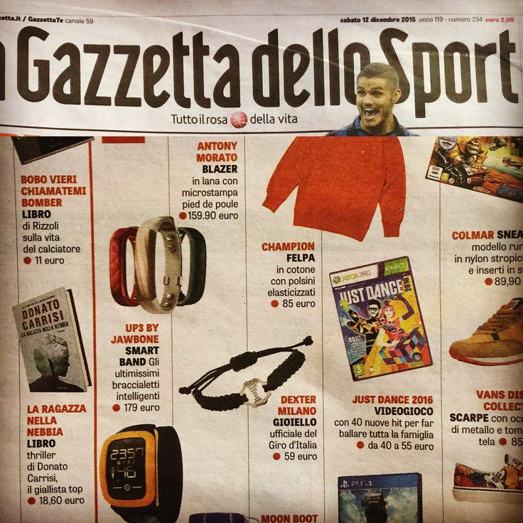 LA GAZZETTA DELLO SPORT DICEMBRE 2015 - Bracciali Giro d'Italia 2016 in argento -  Silver Bracelet  #timemachine #bracciali #bracelet #gear #ingranaggio #gioielli #jewelry#Girod'italia