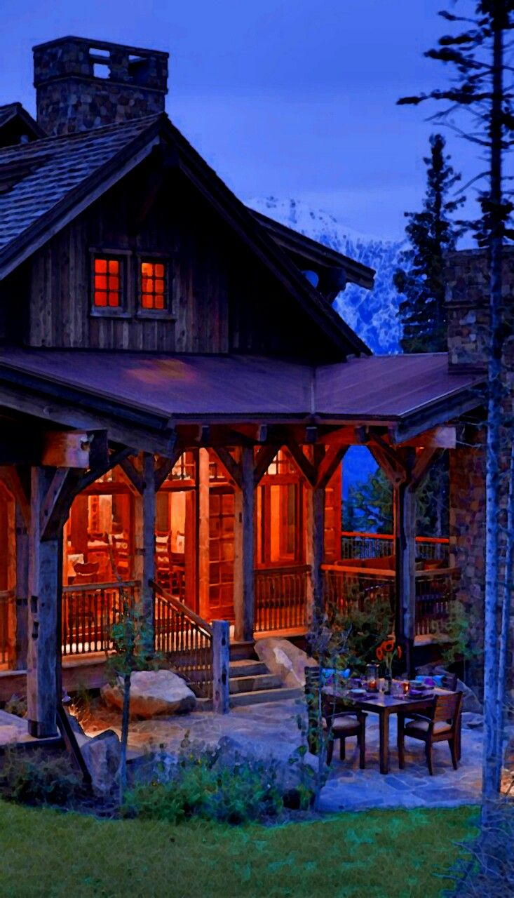 30 best beautiful log cabin dining rooms images on for Log cabin dream homes