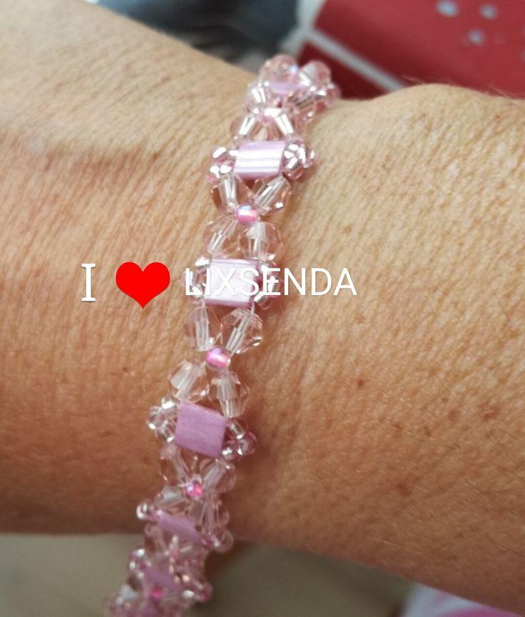 Pulseras de mujer, pulseras de cristal, pulseras de swarovski, todos los colores, hechas a mano, hechas a medida, aniversario, regalos, parejas, envio gratis. https://www.etsy.com/shop/Lixsenda