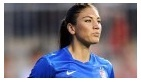 """IMG 111b:  American news outlet, ESPN, features an image of national soccer player, Hope Solo, in the """"Must See"""" section. It is a very small photograph but the emphasis on her intensity depicts Solo as strictly an athlete rather than the sexual-being she has been portrayed as in the past."""