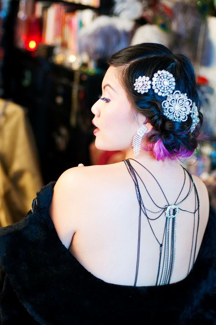 Photoshoot with the Lovely Judy Chee, vintage updo hair and makeup by Devon Bree Baker