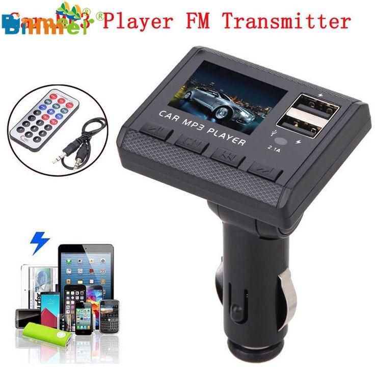 Binmer MOSUNX Car Music MP3 Player FM Transmitter Modulator Dual USB Charging SD MMC Remote Drop. Click visit to buy