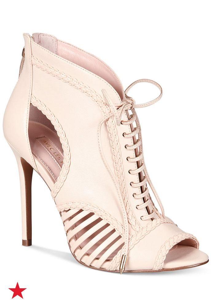 Avec Les Filles Joyce Lace-Up Open-Toe Shooties, A Macy's Exclusive Style.  Stiletto HeelsStilettosPumpsVintage LeatherOpen ToeHigh ... - 1410 Best The Perfect Shoe Images On Pinterest