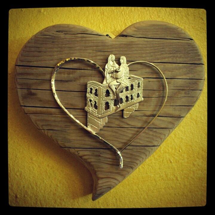 #Handmade silver jewels and wood. Verona in love, Italy.  www.gioiellisoprana.it