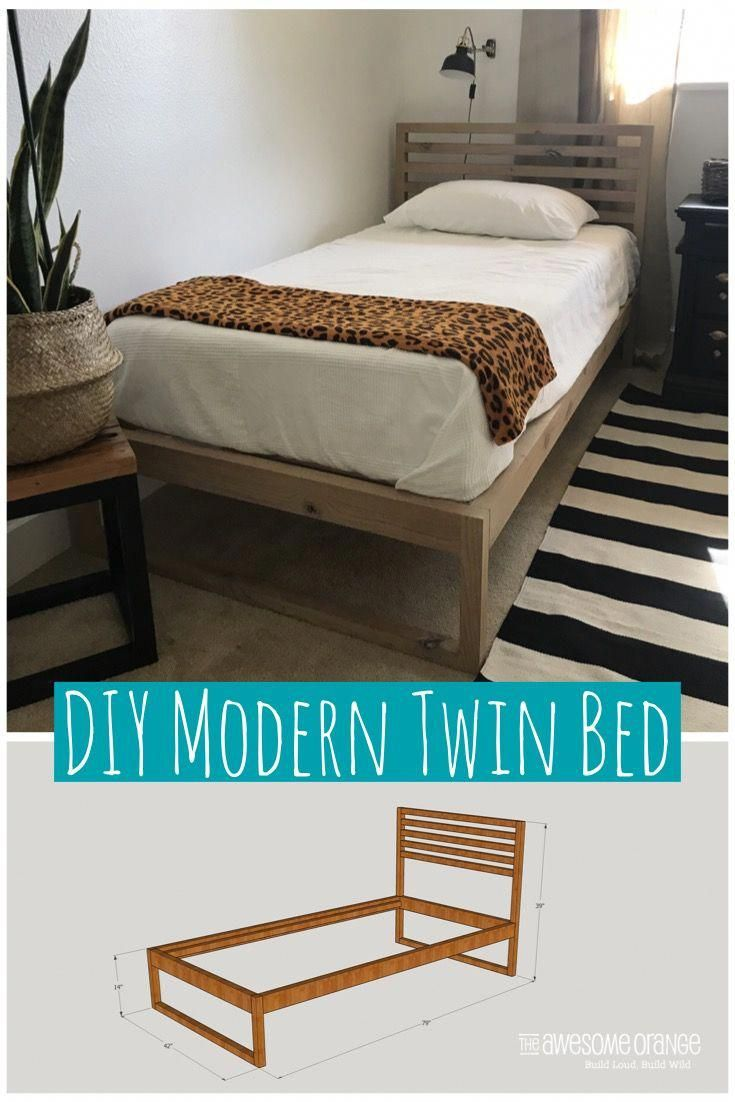 diy modern twin bed - free plans to build your own modern twin bed