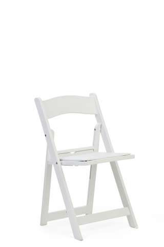White Wood Folding Chairs - these are going fast for summer time!