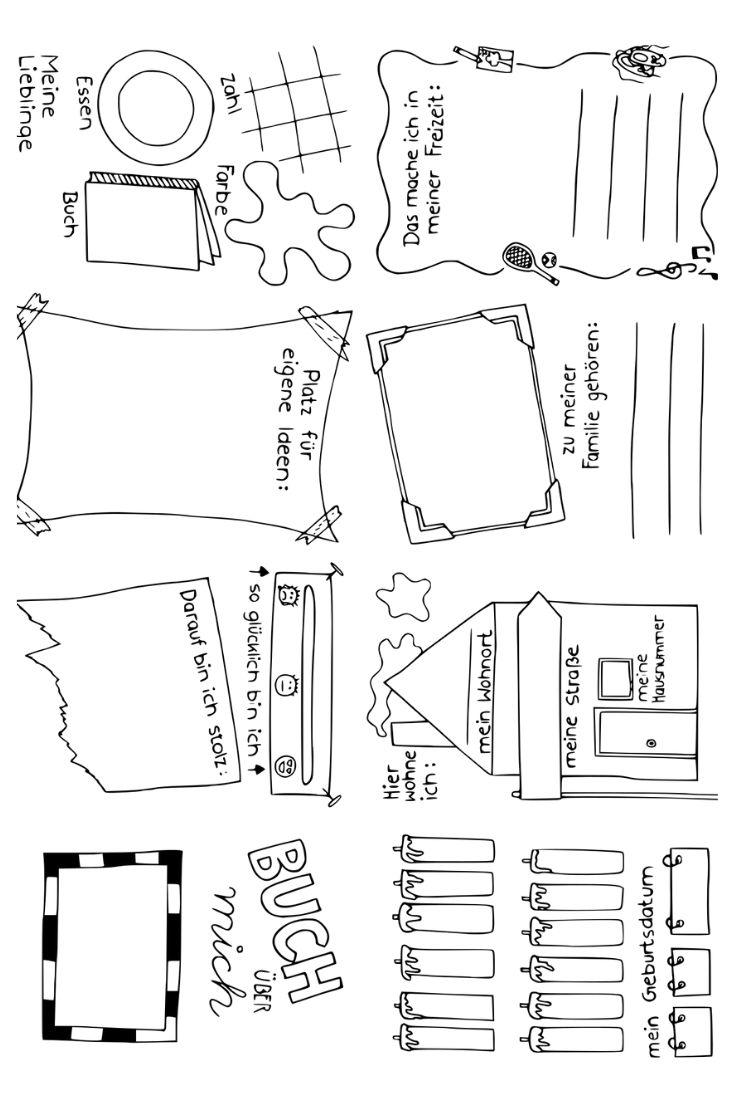 Das bin ich – Faltbuch/ Steckbrief – Unterrichtsmaterial im Fach Fachübergreifendes