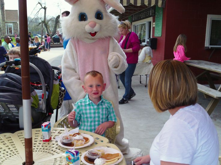 Breakfast with the Easter Bunny!  What a fun way to start the day.