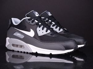 NIKE Air Max 90 Essential black dark wolf grey New Running 537384 032