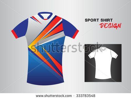 blue sport shirt design vector illustration