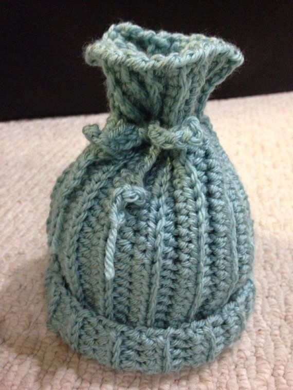 Tied Infant Hat by sophiezhappy on Etsy, $15.00
