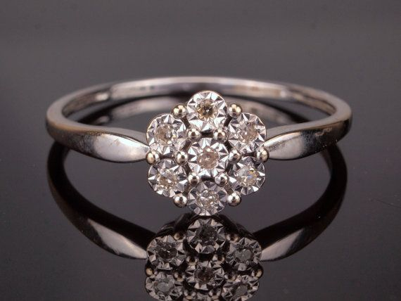 White Gold Diamond Ring Diamond Engagement by BelmontandBellamy
